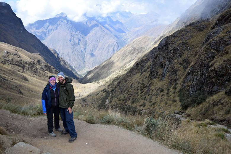 Looking back down the valley from Dead Woman's Pass, the highest point on the Inca Trail