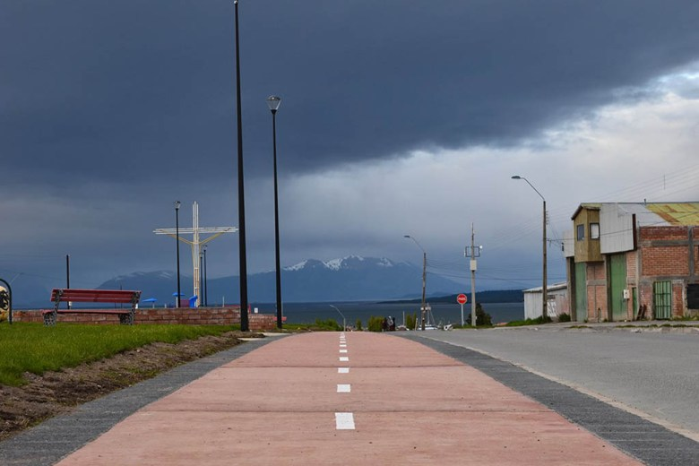 Puerto Natales, near Torres Del Paine: storm clouds can gather quickly without warning