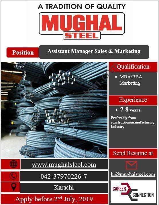 Mughal Iron & Steel Industries Limited Jobs June 2019