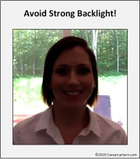 Image demonstrating how strong backlight makes your face too dark to be seen.