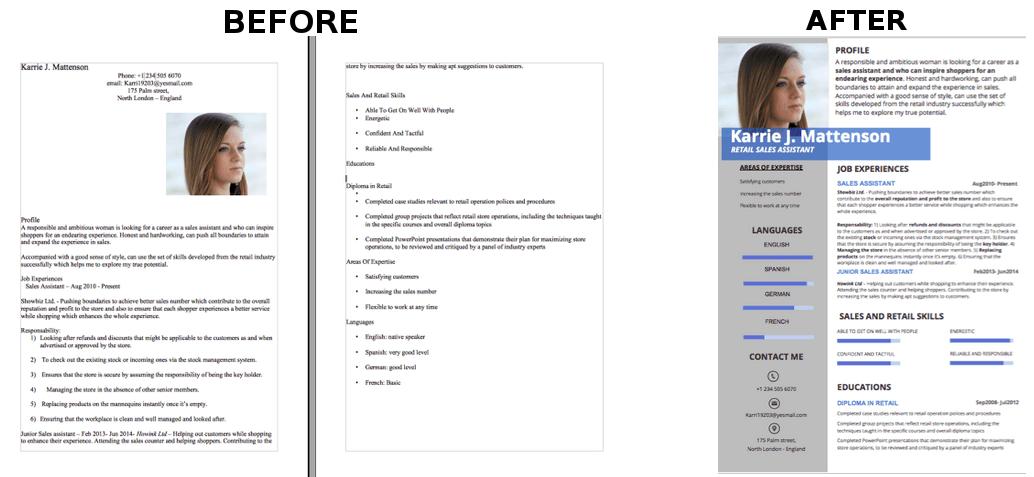 creative cv templates  u2014 careerloupe