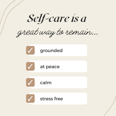 Benefits of simple self-care