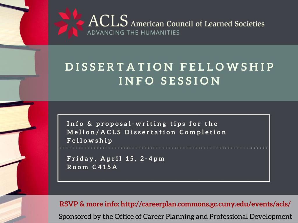 cuny gc dissertation fellowship