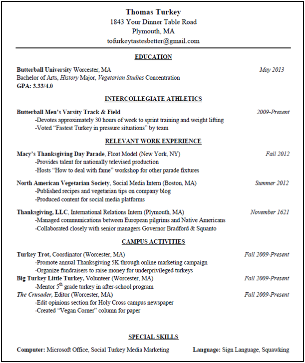 Resume Set Up Examples. Perfect Resume Format Perfect Resume