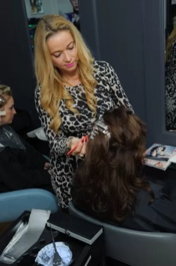 Nicola colouring a new client's hair