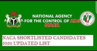naca shortlisted candidates