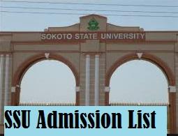 sokoto state university admission list