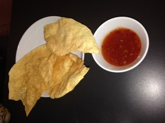 Thai crackers w/ sweet chilli dipping sauce