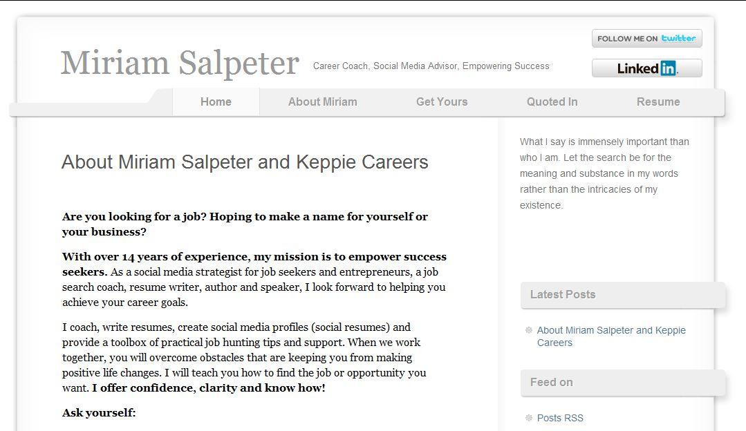 miriam salpeter founder of social spot career