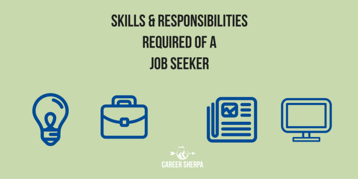 Responsibilities Required of a Job Seeker