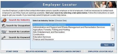 employer locator careerinfonet