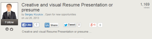 3 inspiring visual resume examples on slideshare career sherpa