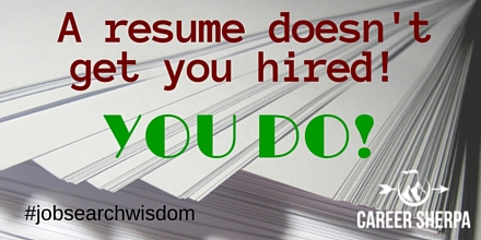 resume doesn't get you hired