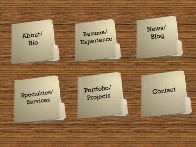 Online portfolio pages