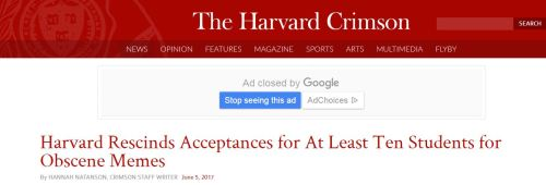 Harvard rescinds 10 offers