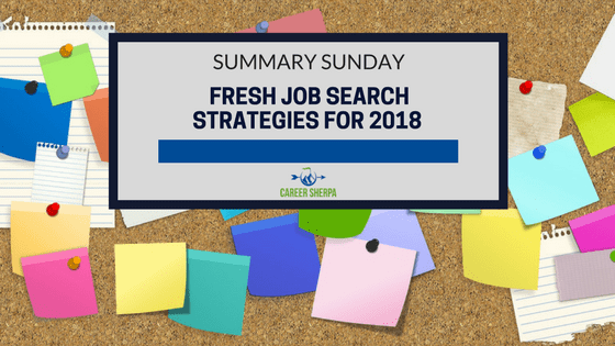 Fresh Job Search Strategies for 2018