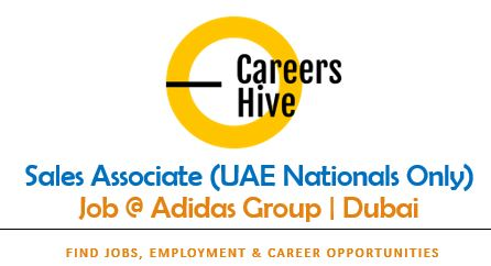 Sales Associate (UAE Nationals Only)   Adidas Jobs in Dubai