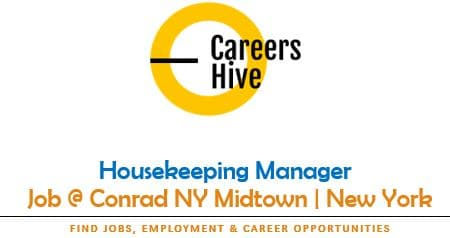 Manager, Housekeeping Jobs in New York at Conrad Midtown