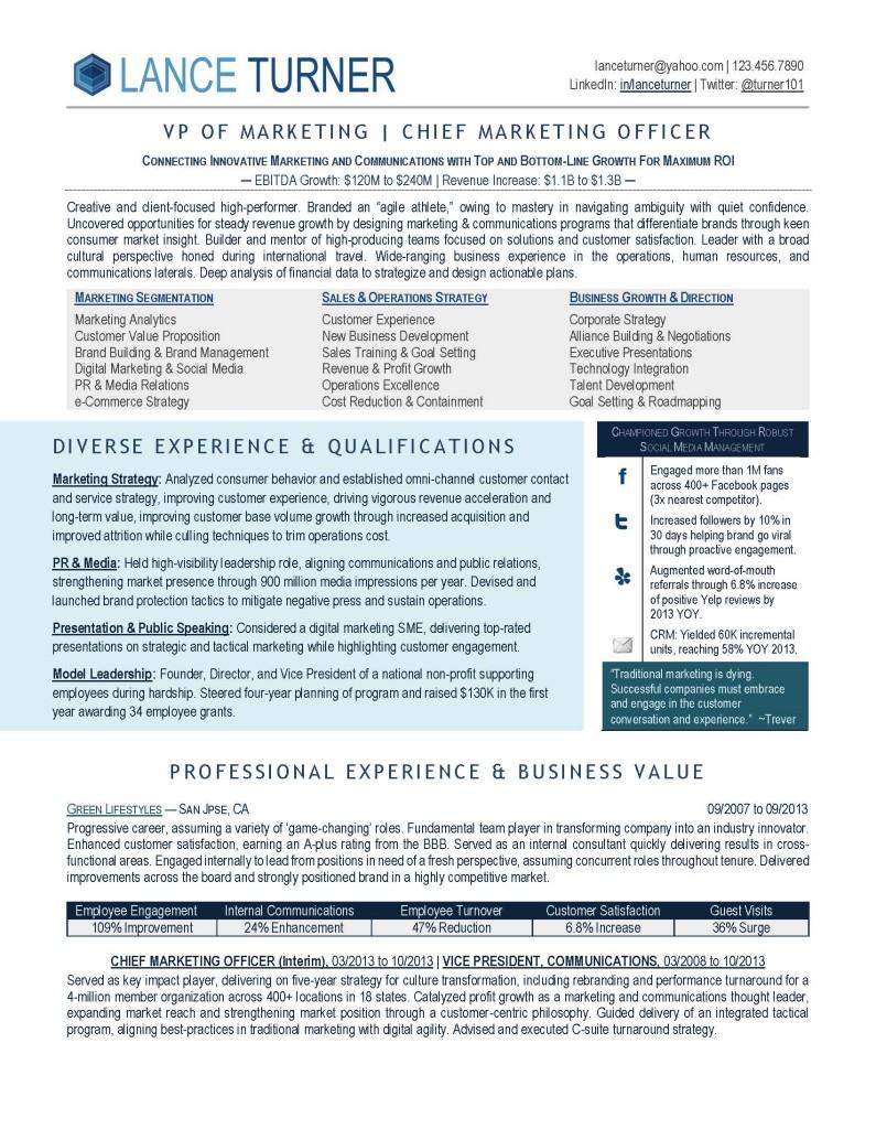 marketing executive copyright careersteering com