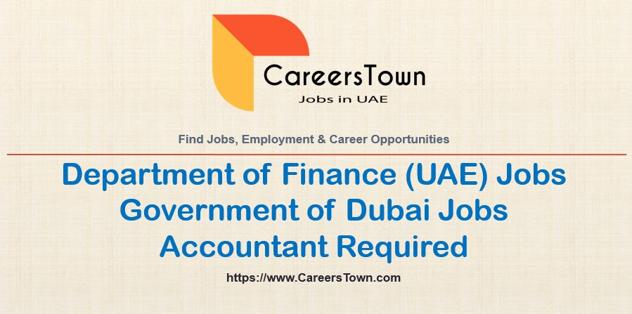 Government Transactions Accountant Jobs in Dubai | DOF Careers