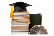 Graduate cap and books