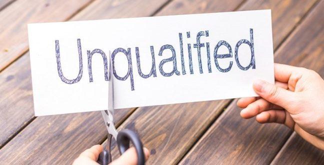 underqualified