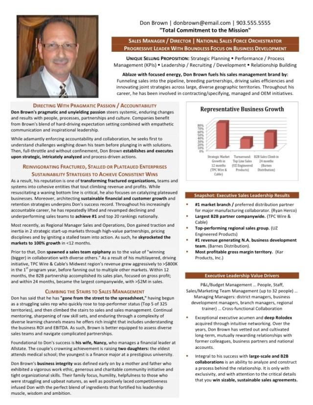 Executive Resume Samples - Master Executive Resume Writing Service
