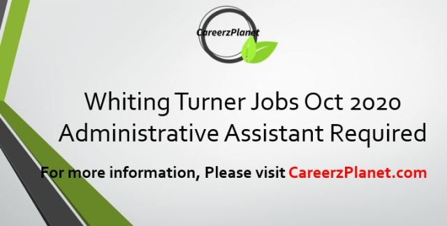 Whiting Turner Jobs Oct 2020