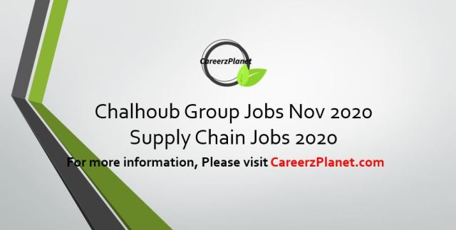Supply Chain Manager Jobs @ Chalhoub Group 19 Nov 2020