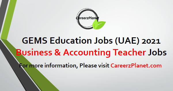 Accounting Teacher Jobs Dubai UAE 22 Apr 2021