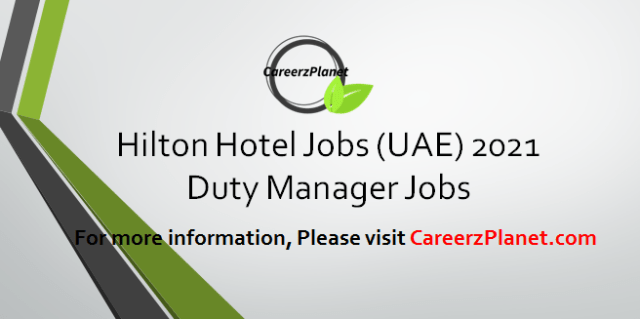 Duty Manager Jobs 12 Apr 2021