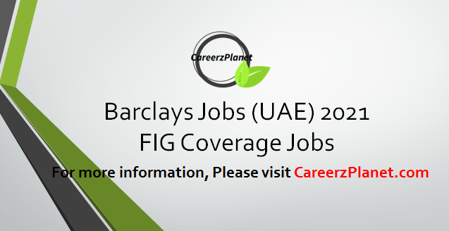 FIG Coverage Jobs in UAE 02 Apr 2021