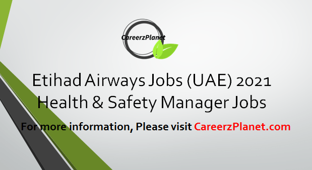 Health & Safety Manager Jobs 09 Apr 2021