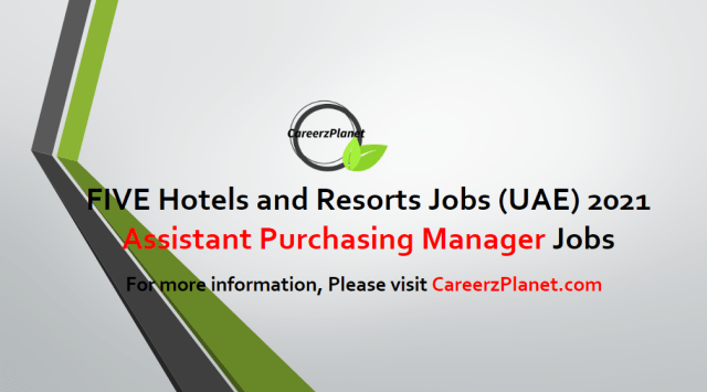 Assistant Purchasing Manager Jobs in UAE 28 Apr 2021