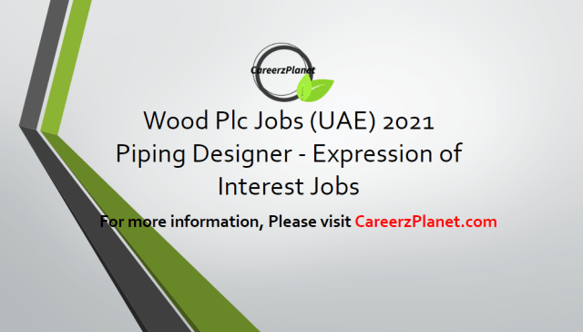 Piping Designer - Expression of Interest Jobs 14 Apr 2021