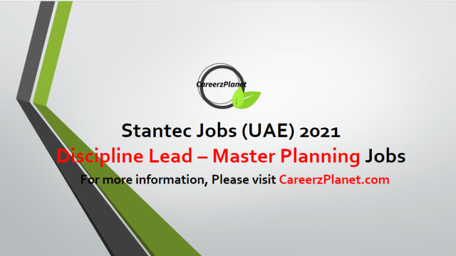 Discipline Lead – Master Planning & Network Modelling Jobs in UAE 22 Apr 2021