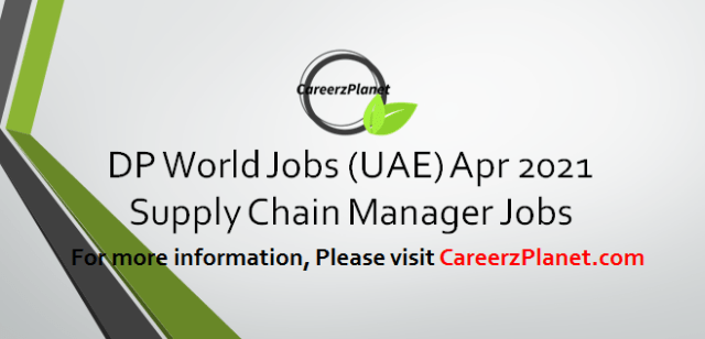 Supply Chain Manager Jobs 01 Apr 2021