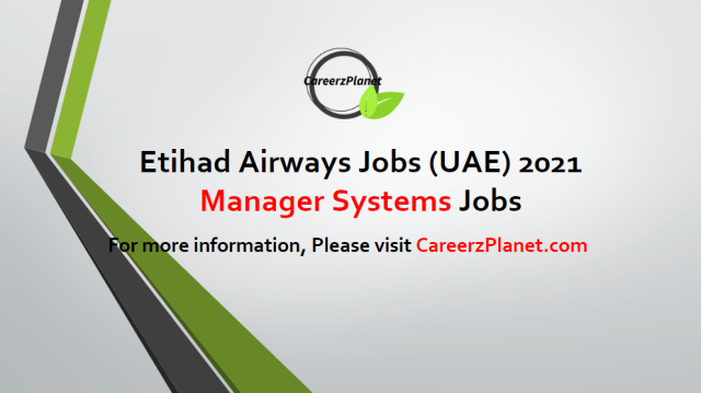 Manager Systems Jobs 20 Apr 2021
