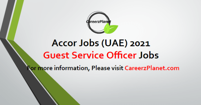 Guest Service Officer Jobs in UAE 08 May 2021