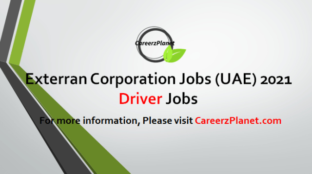 Driver Jobs in UAE 03 May 2021