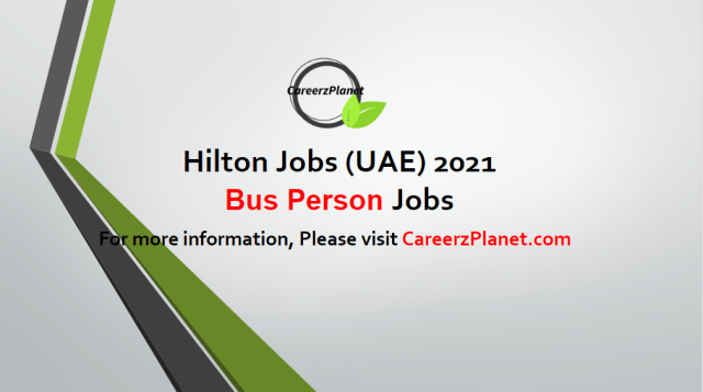 Bus Person Jobs UAE 03 May 2021