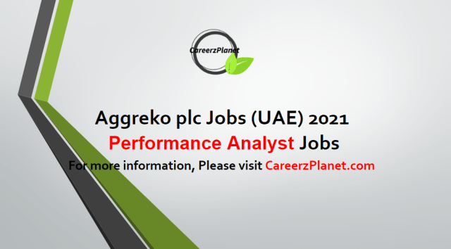 Performance Analyst Jobs in UAE 04 May 2021