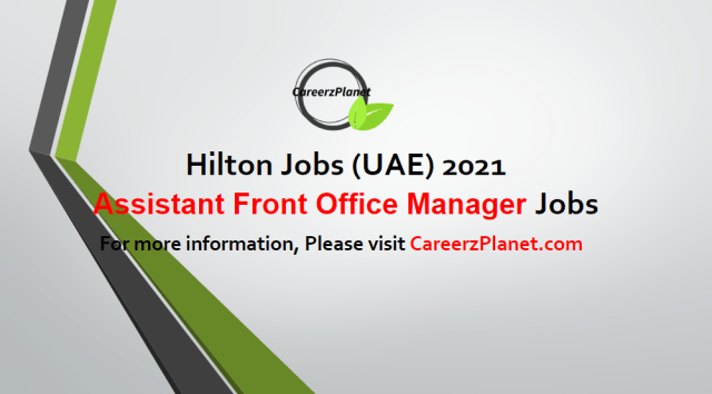 Assistant Front Office Manager Jobs UAE 03 May 2021