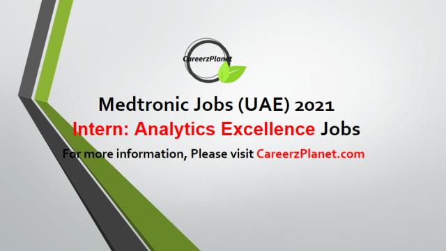 Intern: Analytics and Commercial Excellence Jobs in UAE 03 May 2021