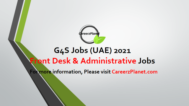 FRONT DESK AND ADMINISTRATIVE SUPPORT in UAE 02 May 2021