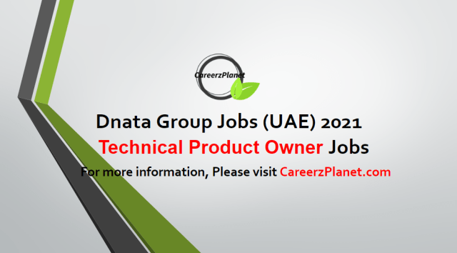 Technical Product Owner  Jobs in Dubai 05 May 2021