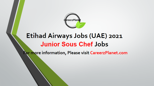 Junior Sous Chef Jobs in UAE 05 May 2021