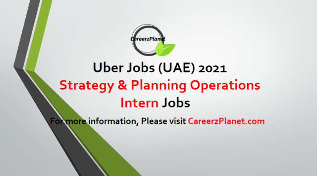 Strategy & Planning Operations Intern - Mobility Jobs in 03 May 2021