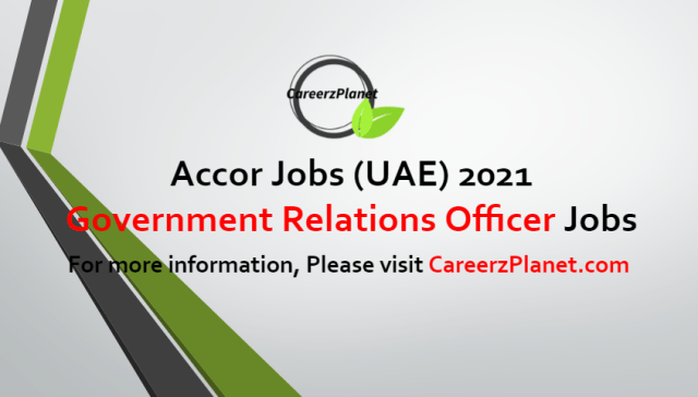 Government Relations Officer Jobs in UAE 25 Jun 2021
