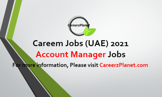 Account Manager Jobs in UAE 27 Jun 2021